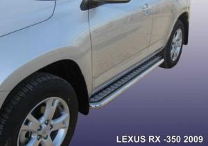 LEXUS RX-350 (2009)-Пороги d57 с листом